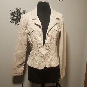 Plugg Jackets & Coats - Plugg Light Khaki Corduroy Jacket Size Large